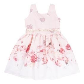 9c8ab16d1a Vestido Infantil Regata Com Cinto Pérolas Planeta Rosa