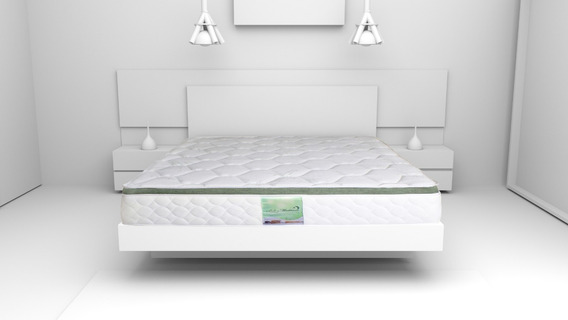 Colchon Matrimonial Memory Foam Resortes Bamboo Bio Mattress