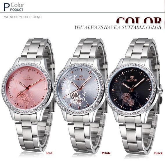 Relógios Feminino/mulher Skone Com O Detalhe Frete Gratis
