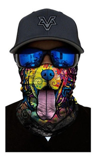 Bandana Buff Mascara 3d Ciclismo Moto Dog Uv Protector