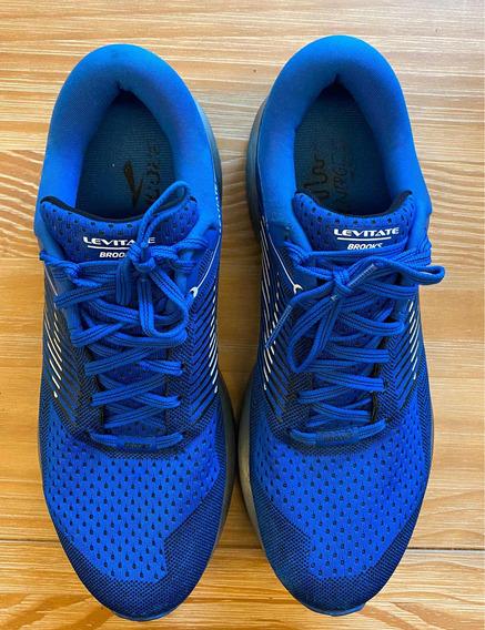 Tênis Brooks Levitate Azul Tam 10 Ou 41,5
