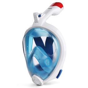 180° Facial Snorkel Máscara Easybreath Buceo... (blue, L)