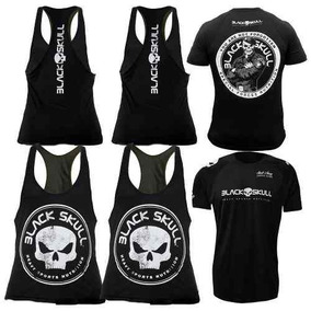 Kit Black Skull: 2x Regata + 1x Camiseta Bope