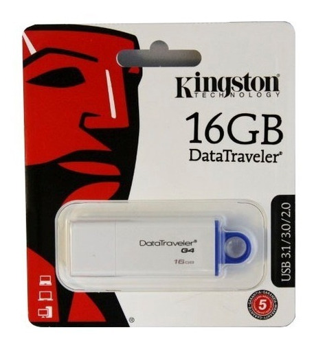 Pendrive 16gb Usb 2.0/3.0/3.1 Kingston G4 Datatraveler Local