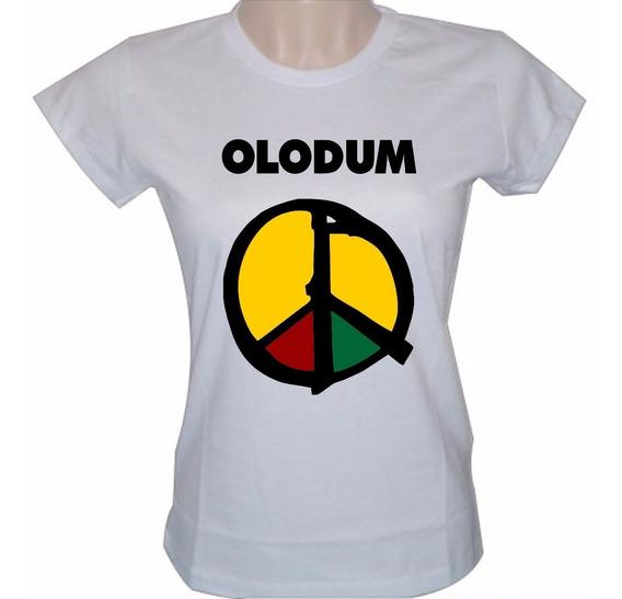 Baby Look Feminina Olodum Banda Axé Camisa Reggae Camiseta