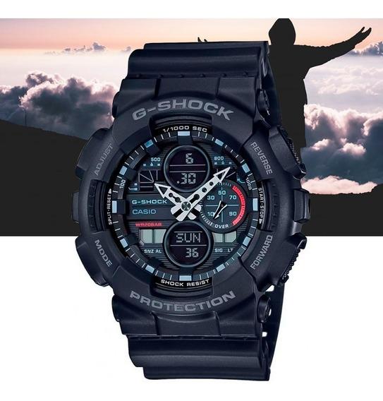 Relógio Casio G-shock Analó Digi Ga-140-1a1dr Preto E Cinza