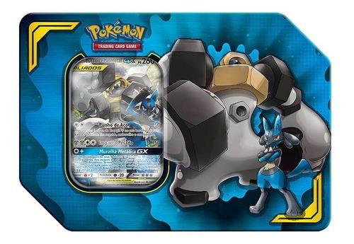 Pokémon Tcg Lata Parceria Poderosa - Lucario E Melmetal Gx