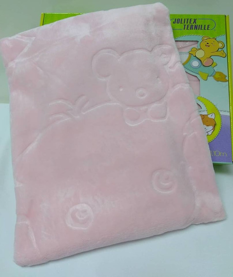 Cobertor Jolitex Infantil Bebe Raschel Relevo Texture Menina