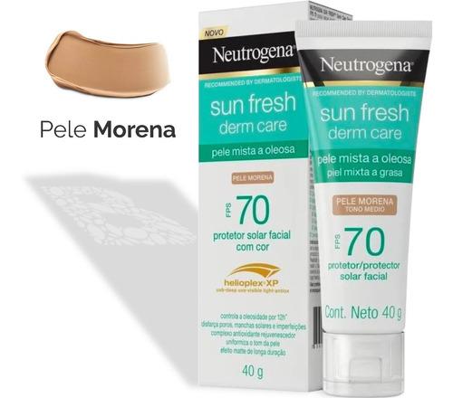 Protetor Solar Facial Neutrogena Sun Fresh- Morena Fps70 40g