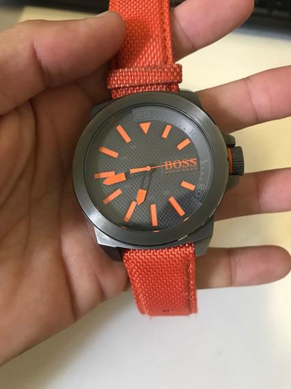 Relógio Hugo Boss Orange Hb 221.1.34.2626 Pulseira Laranja