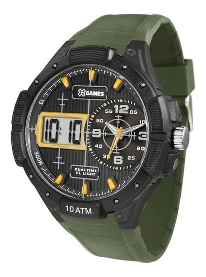 Relógio Esport Xgames Masculino Verde Anadigi Xmppa214 Bxex