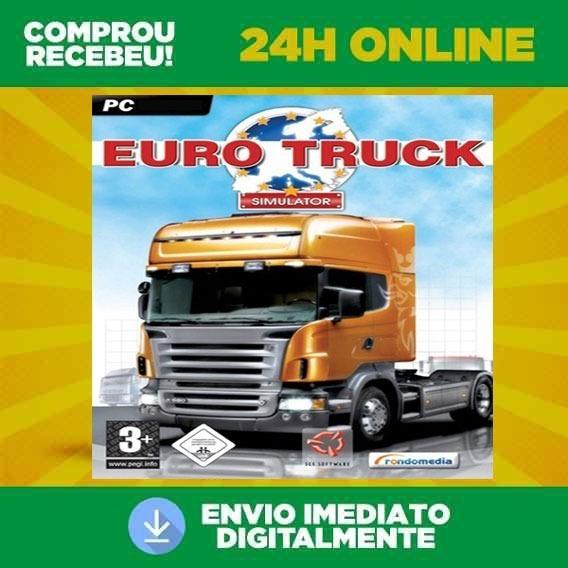 Euro Truck Simulator Para Computador Mídia Digital + Brinde
