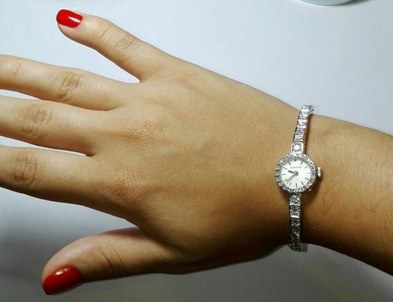 Relógio Longines Ouro Branco Maciço 18k 60 Diamantes 2 Quila