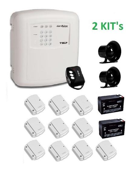 Kit Alarme Ecp Alardmax 1 Bateria Sirene 5 Sensores Sem Fio