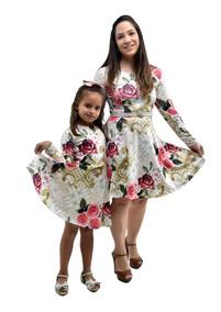 Vestidos Mãe E Filha Manga Longa Outono Inverno
