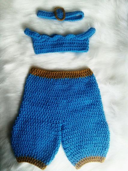 Conjunto Newborn Jasmine Crochê Bebê Assesorios