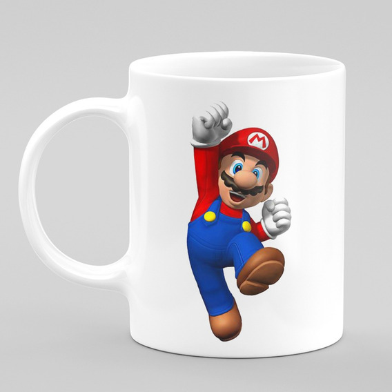 Caneca Super Mario Gamer Jogo Clássico Nintendo 15