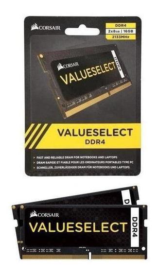 Memória Corsair 16gb (2x8gb) Notebook 2133mhz Value Select