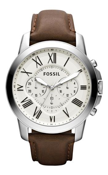 Reloj Caballero Fossil Fs4735ie Color Café De Piel