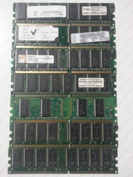 Lote 6 Memorias Ram Ddr1 256mb 333/400 Mhz