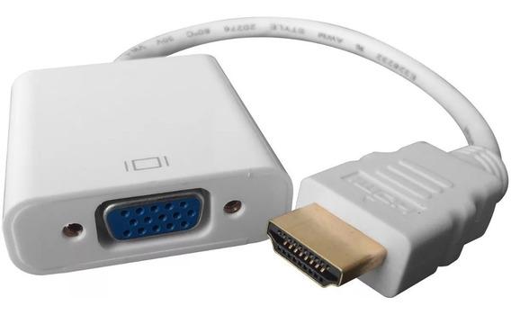 Adaptador Cable Hdmi A Vga Conversor Apto Notebook Pc Audio
