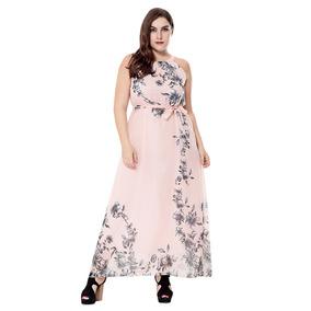 Vestido Talle Cuello En Talle Estampado Floral Simple De Gra