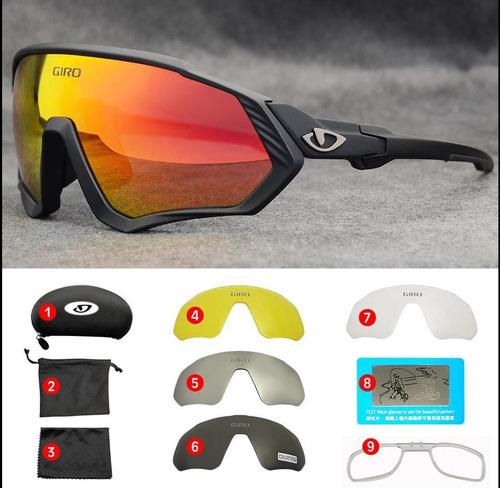 Giro Gafas Ciclismo, Mtb, 5 Lentes Protección Uv.