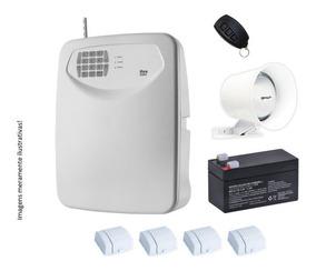 Kit Alarme Flex 4 Sensores + Instalação