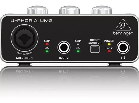 Behringer U-phoria Um2 Audiophile 2x2 Interfaz De Audio Usb