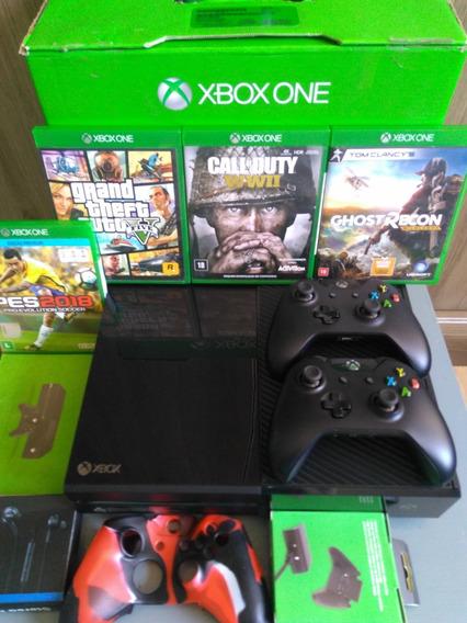 Xbox One 1tb Na Caixa 2 Controles + Jogos + Brinde Barato