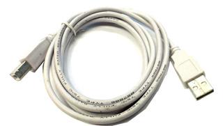Cable Usb A/b 2.0 Para Impresora 1.7 Mts Gris E5053