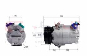 Compressor Vw Polo Fox 2010 Gol G5 G6 Voyage Polia 3pk