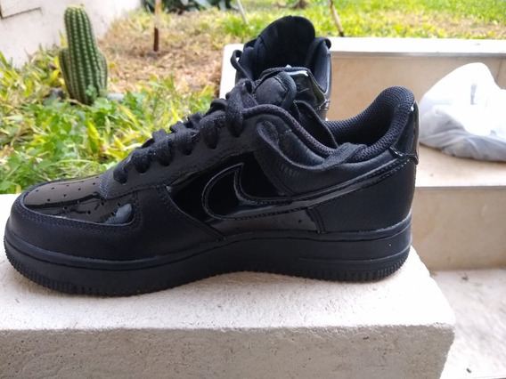 Zapatilla Nike Air Force Negras Con Charol