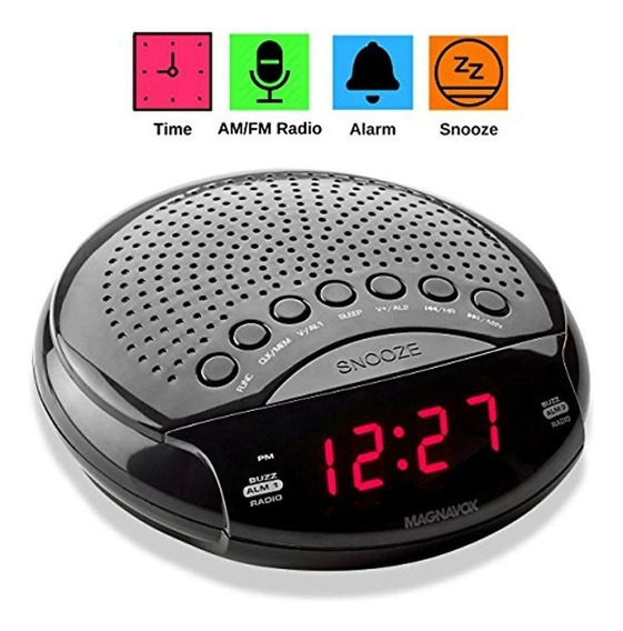 Relógio Rádio Magnavox Digital Alarme Duplo Rádio Am/fm,