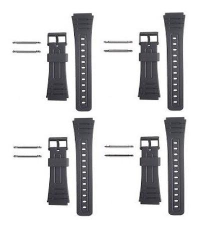 Kit Com 4 Pulseira Para Relógio Casio Primeira Linha