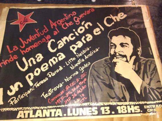 Unico Afiche Homenaje Al Che Guevara Cancha De Atlanta Orig