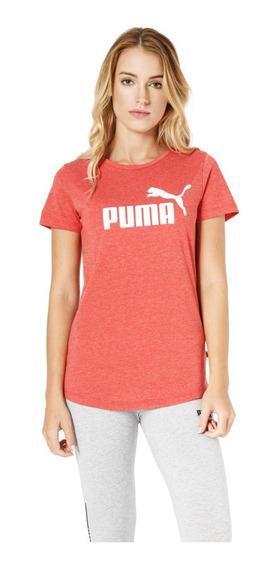 Puma Remera M/c Mujer Essentials Heather