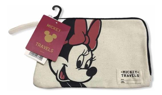 Neceser Porta Documentos Disney Uniqlo Mickey Y Minnie