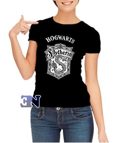 Camisa Slytherin Sonserina Hogwarts Harry Potter - Baby Look