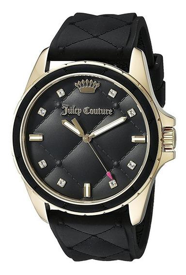 Reloj Juicy Couture Malibu Silicón Negro Acero Mujer 1901314