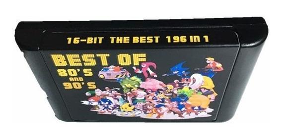 Cartucho Multi Jogos 196 Em 1 / Mega Drive / Genesis