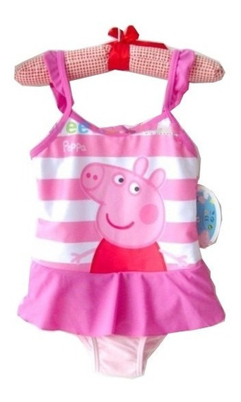 Traje De Baño Para Niñas Peppa Pig Holanes 8 Años