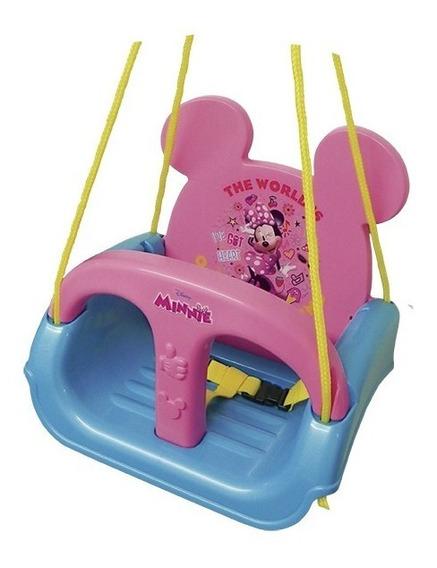 Balanço Infantil Encosto Balança Barra Proteção Minie Mickey