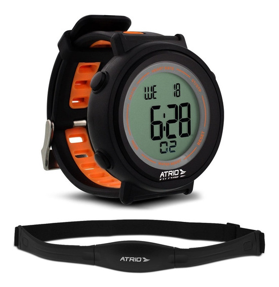 Relógio Esportivo Com Monitor Cardíaco Calorias Multilaser Atrio Es049 Corrida Bicicleta Espertas