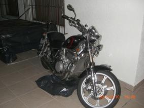 Kawasaki, Moto, Custom, 750cc, Vulcan Vn, Vermelha
