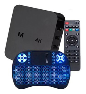 Convertidor Smart Tv Box Android Tv + Teclado Iluminado Ofer