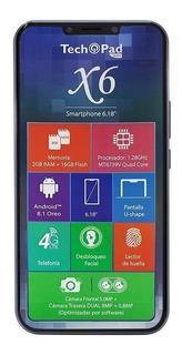 Smartphone Tech Pad X6 6.1 4g Cámara Dual Desbloqueo Facial