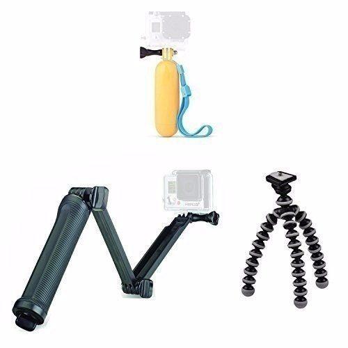 Kit Go Pro Bastão 3 Way+boia Flutuante+tripé Flexível+triPod