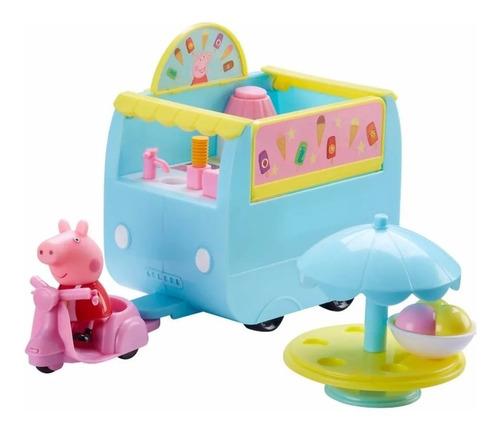 Peppa Pig Playset Carro Helados + Figura + Vehiculo 06297