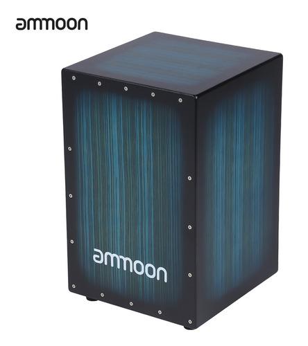 Ammoon Caja De Madera Cajón De Mano Tambor Instrumento Pers